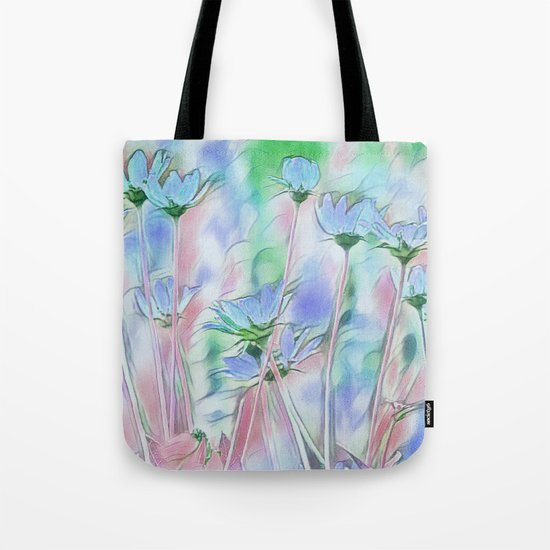 Coming Up Blue Tote Bag
