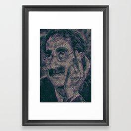 Groucho Marx - Duck Soup Screenplay Print Framed Art Print