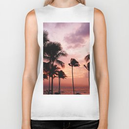 Palm Tree Sunset Biker Tank