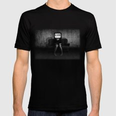 Lies LARGE Black Mens Fitted Tee