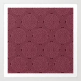 Rasberry Rosette Lace Art Print