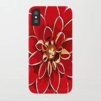 dahlia iPhone & iPod Cases featuring Dahlia by Saundra Myles