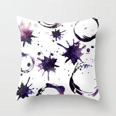 Galaxy Splashes Pattern Throw Pillow