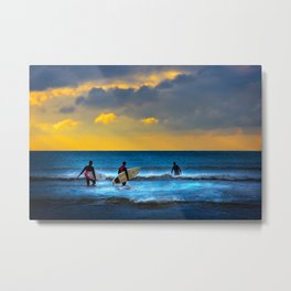 Last Surf Of The Day Metal Print