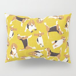 beagle scatter yellow Pillow Sham