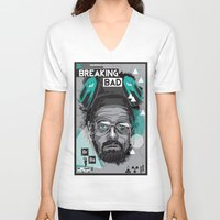 breaking bad V-neck T-shirts featuring Breaking Bad by Sophie Bland