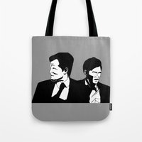 true detective Tote Bags featuring True Detective by oslacrimale