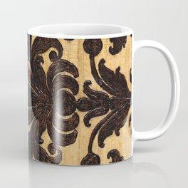 Wood Burnt Damask Coffee Mug