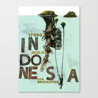 indonesia Canvas Prints featuring Indonesia by Andreas Derebucha