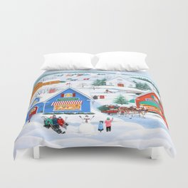 Wintertime in Sugarcreek Duvet Cover