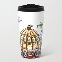 Punky Pumpkin Car for fast safe Halloween Carpool Trick or Treating Travel Mug