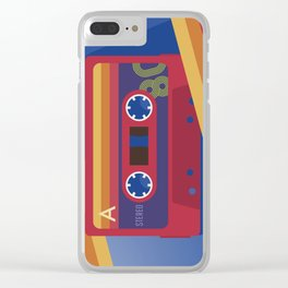 80s Retro Tape Deck Clear iPhone Case