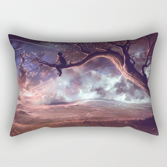 It made scars in the sky  Rectangular Pillow