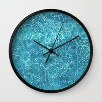 milky way Wall Clocks featuring milky way by Motif Mondial