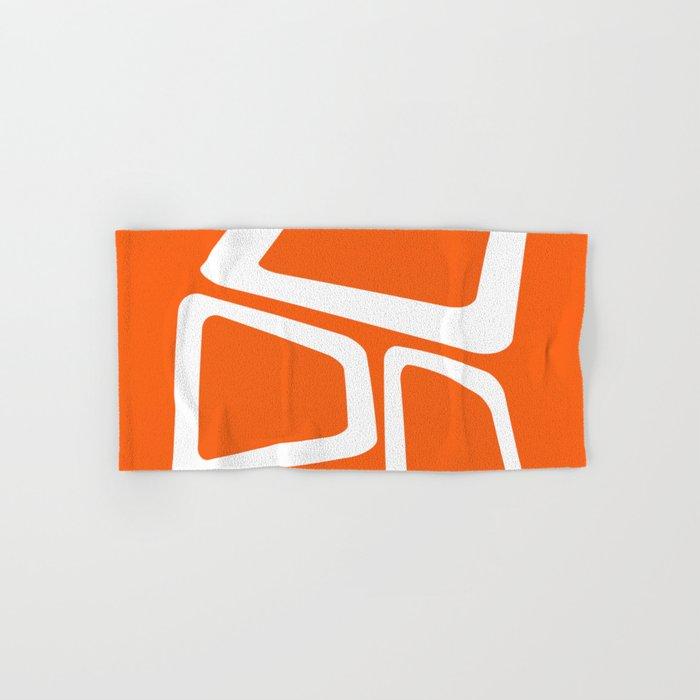 Mid Century In Burnt Orange Hand Bath Towel
