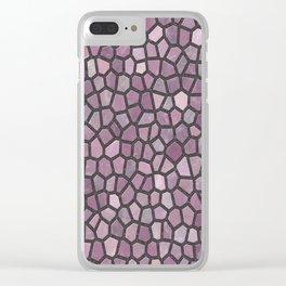 Mauve Pink Mosaic Pattern - darker Clear iPhone Case