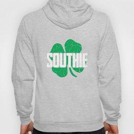 Southie Distressed Green Shamrock St Patricks Day Hoody