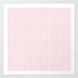 Small Blush Pink Valentine Pale Pink and White Buffalo Check Plaid Art Print