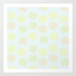 Clivia Blooms  Art Print