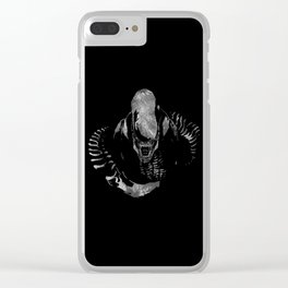 Aliens Here Clear iPhone Case