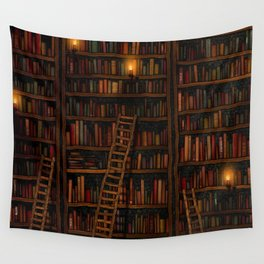 Night library Wall Tapestry