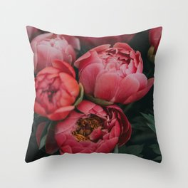 peonies #society6 #decor #buyart Throw Pillow