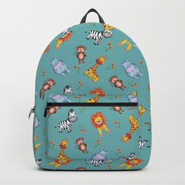 Teal Safari Cuties Backpack