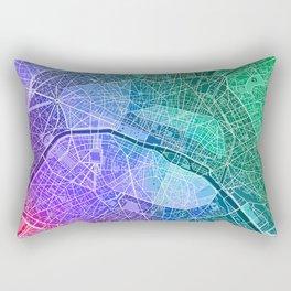 Paris Map (Colour Gradient) Rectangular Pillow