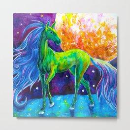 Emerald horse Metal Print