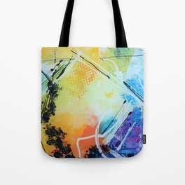Harmony colourful  abstract artwork Tote Bag