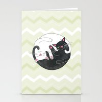 philosophy Stationery Cards featuring Cat Philosophy by Emily Andrus Lopuch