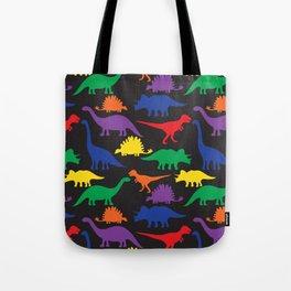 Dinosaurs - Black Tote Bag