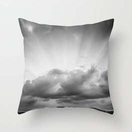Black & white Rila Throw Pillow