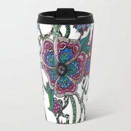 Chaotic Blooms Travel Mug