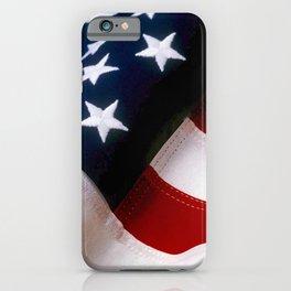 Waving American Flag iPhone Case
