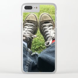 Adventure Shoes Take a Rest Clear iPhone Case