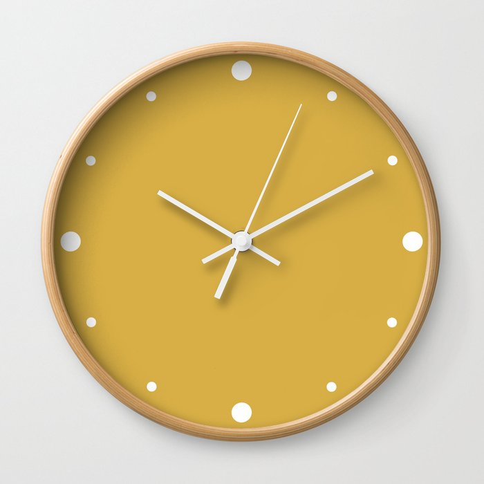 Mustard Yellow Color Wall Clock by nicnak85