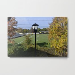 OUTSIDE Metal Print