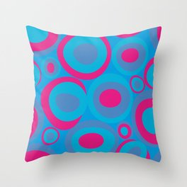 Bubberoom in blue and pink Throw Pillow