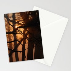 illuminated forest Stationery Cards