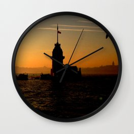 sunset in İstanbul Wall Clock