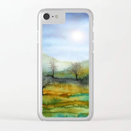 Christmas In The Woods Clear iPhone Case