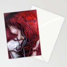 my heart soars like a blood red artifact Stationery Cards