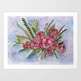 The Splendor of Roses Art Print