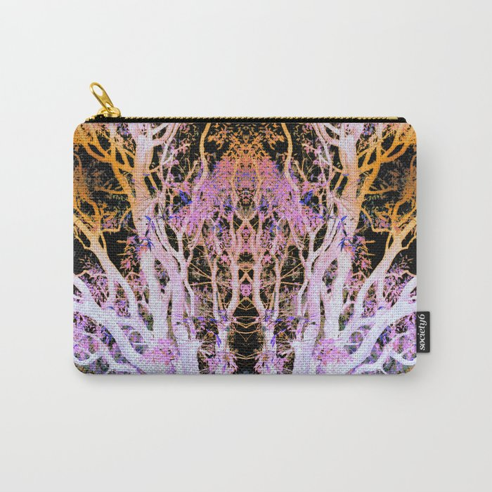 Neon Mirrored Trees Carry-All Pouch
