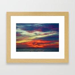 October Lake St.Clair Sunset Framed Art Print
