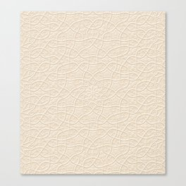 Arabesque Vines 3D - Color: Sahara Sand Canvas Print