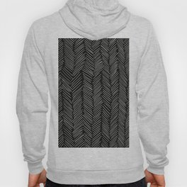 Herringbone Cream on Black Hoody