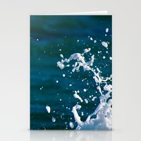 salt water Stationery Cards featuring Salt Water by Diana Chan