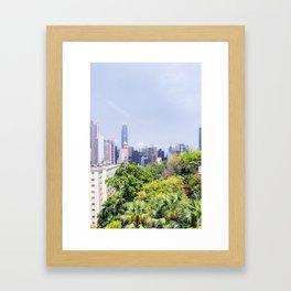 Hongkong Skyline 12 Framed Art Print